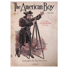The American Boy Magazine Cover – 1911 – Washington – Boy Surveyor