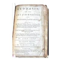 "1768 Antique Surveying Book by John Love – ""Geodaesia"""