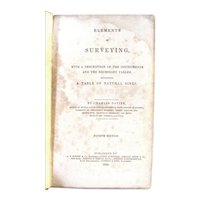 "Davies Surveying – Antique 1839 – ""Elements of Surveying"""