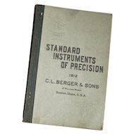 """Antique """"Standards of Instruments of Precision, C.L. Berger & Sons"""
