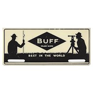 "Vintage ""BUFF"" Instruments Metal License Plate - SURVEYORS"