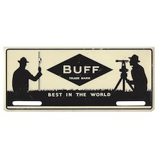 "Vintage ""BUFF"" Instruments Metal License Plate - SURVEYORS"