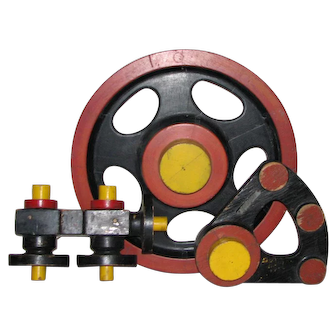 Vintage Red, Yellow, & Black Industrial Patterns - Steam Punk