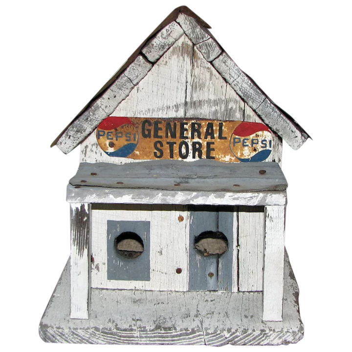 Phenomenal Vintage Wood And Tin General Store Birdhouse Interior Design Ideas Tzicisoteloinfo