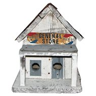 Vintage Wood and Tin General Store Birdhouse
