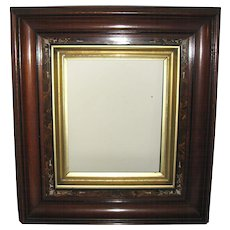 Gilt and Decorated Wooden Victorian Picture Frame
