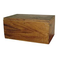 Grain-Painted Pine Lift-Top Box Circa 1860