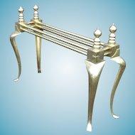 Rare Mid Century Modern Queen Anne Brass Table Base