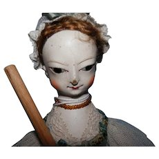 """Hand Carved Wood Doll By Kathy Patterson    11"""""""