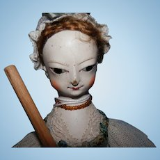 Hand Carved Wood Doll By Kathy Patterson    11""