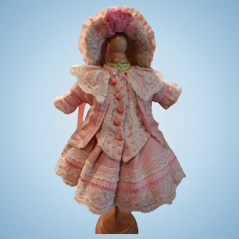 """Artist Made Tiny Beautiful Dress and Hat For 10""""-11"""" Doll"""