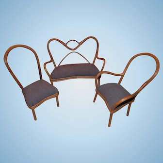 Rattan Set For Doll House