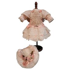 "Superb French style costume for a doll of about 14"" to 16""."