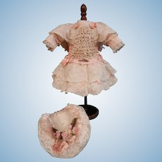 """Superb French style costume for a doll of about 14"""" to 16""""."""