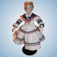 Artist Made One Of A Kind Sailor Outfit For 12.5 Huret Body Reproduction  Doll.
