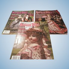 Three Antique Doll Collector Magazines