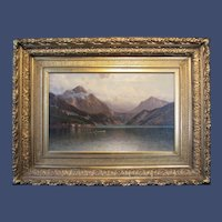 George W. Waters, Lake Maggiore, oil painting on canvas, 1886