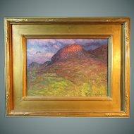 John J. Enneking painting, Setting Sunlight on a Hilltop, 1890