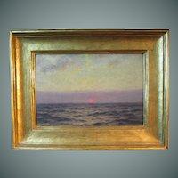 William Edward Norton, luminous marine painting - Setting Sun at Sea