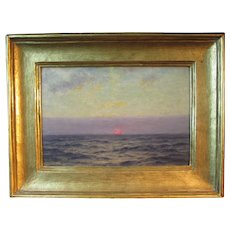 William Edward Norton, luminous marine painting - Setting Sun at Sea