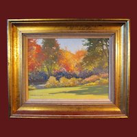 "Robert Douglas Hunter painting, ""Autumn By The Charles River"", 1989"