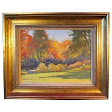 """Robert Douglas Hunter painting, """"Autumn By The Charles River"""", 1989"""