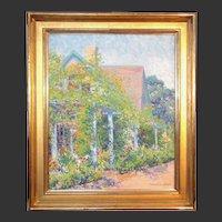 """Henrietta Dunn Mears, """"Cesco's Italian Inn"""", Provincetown, oil on canvas, 1916-1920"""