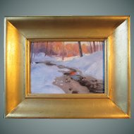 "Arthur Linquist painting, ""West Roxbury"", 1915"