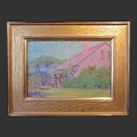 Edwin Howland Blashfield, Cape Cod Twilight, South Dennis,  oil painting on board