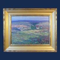 """Harry Leslie Hoffman, Old Lyme School, oil painting on board, """"Pleasant Valley"""""""