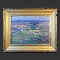 """Harry Leslie Hoffman, Old Lyme School, """"Pleasant Valley"""", oil on board"""
