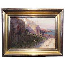 Edward A. Page, Gas House Beach - Marblehead, oil on canvas, 1921