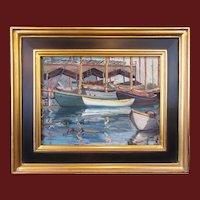 Arthur Josiah Hammond, Harbor View, oil painting on board
