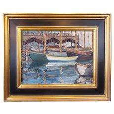 Arthur Josiah Hammond, Gloucester Harbor, oil on board