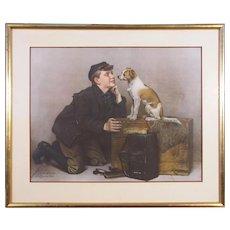 """J.G. Brown, color collotype, circa 1899, """"Do You Love Me?"""""""