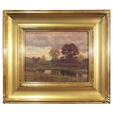 American School, Early 20th century, Fall landscape - A Passing Shower