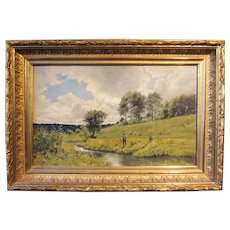 Arthur Fuller Davis, Summer Day, Nagog Brook, oil painting on board
