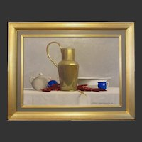 """Robert Douglas Hunter, """"Arrangement With A Brass Ewer"""", oil on canvas, 2002"""