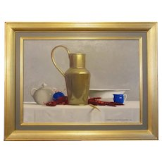 "Robert Douglas Hunter, ""Arrangement With A Brass Ewer"", oil on canvas, 2002"