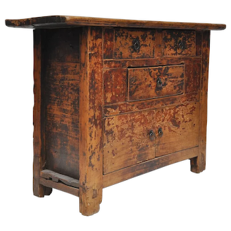 Chinese Antique Country Cabinet with Original Patina