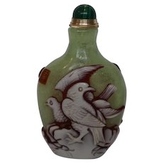 20th Century Chinese Glass Snuff Bottle