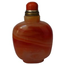 Large Glass Bottle Imitating Agate made for the Mongolian Market