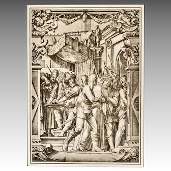 "Print XI  ""Christ Pilate"" 1886 Folio Photogravure  After Hans Holbein"
