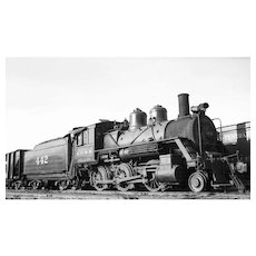 One Original 2 1/2 x 4 1/4 in. Black and White Negative of ICRR Train Steam Engine Locomotive #442.