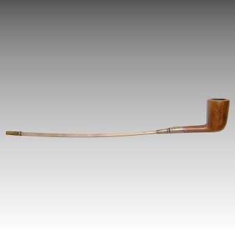 1807 English Tobacco Pipe Sterling Silver Fittings