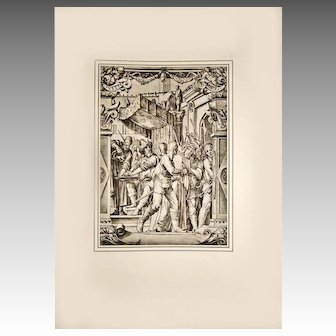"Print XI ""Jesus Crucifixion"" 1886 Folio Photogravure After Hans Holbein"