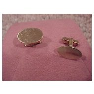 Gentleman's Cufflinks, Oval Shape - 12K GF - circa 1970