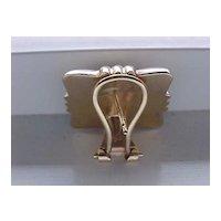 """Square Earrings, Pierced, 14KG EL - """"Gift Package"""" Design"""
