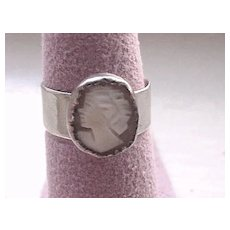 Cameo Ladies Ring in Sterling Silver