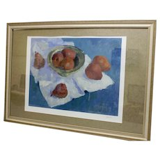 "Signed Helen Anikst ""PEARS FROM ITALY"" Framed & Matted Litho Print XLVI/C"